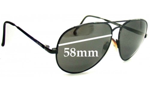 Spotters Aviator New Sunglass Lenses - 58mm Wide