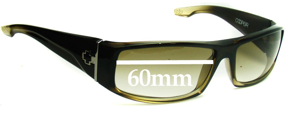 973a8853345 Spy Optics Cooper Replacement Lenses - 60mm Wide