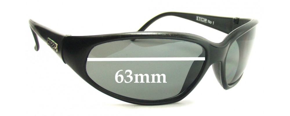 Stop No 1 Replacement Sunglass Lenses - 63mm Wide
