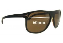 Tom Ford Alphonse TF195 Replacement Sunglass Lenses - 60mm Wide