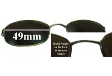 Tommy Hilfiger TH3001 Clip On Replacement Sunglass Lenses - 49mm wide