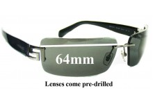 Sunglass Fix New Replacement Lenses for Versace MOD 2017 - 64mm Wide