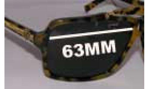 Von Zipper Manchu Replacement Sunglass Lenses - 63mm