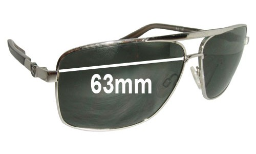 Von Zipper Metal Stache Replacement Sunglass Lenses - 63mm wide