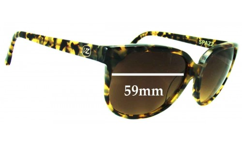 Von Zipper Spazz New Sunglass Lenses  - 59mm Wide