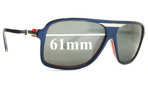 Von Zipper Stache Newer Model Replacement Sunglass Lenses - 61mm wide x 45mm tall
