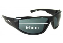 Wiley X Jake Replacement Sunglass Lenses - 64mm Wide