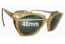 Willson 6 3/4 Safety Glasses Replacement Sunglass Lenses - 48mm Wide Lens