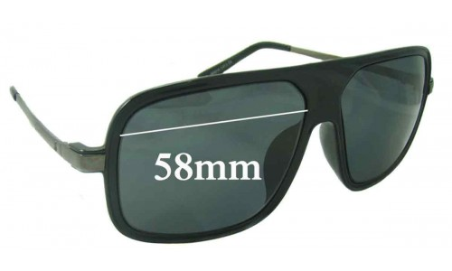 Anne Klien AK2215 Replacement Sunglass Lenses - 58mm wide