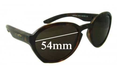 Arnette Moolah AN4170 Replacement Sunglass Lenses - 54mm wide