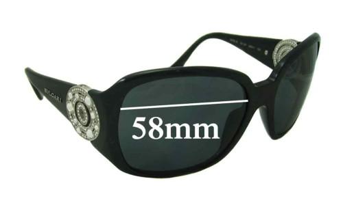 Bvlgari 8008-B Replacement Sunglass Lenses 58mm wide