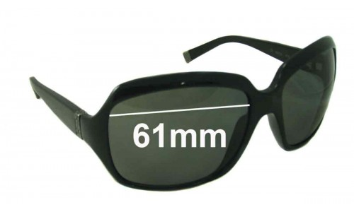 Calvin Klein 3075s Replacement Sunglass Lenses - 61mm wide
