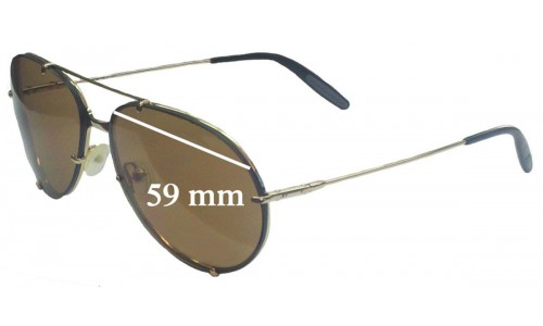 Carrera Porche Design Veron 1 Replacement Sunglass Lenses - 59mm wide