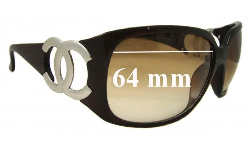 Chanel 6014 Replacement Sunglass Lenses - 64mm wide