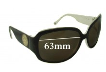 Coach Simone S805 Replacement Sunglass Lenses - 63mm wide