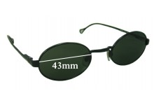 Dolce & Gabbana DG6013 Replacement Sunglass Lenses - 43mm wide