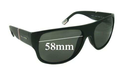 Dolce & Gabbana DG6061 Replacement Sunglass Lenses - 58mm wide