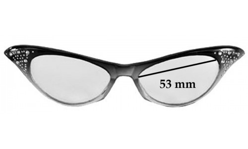 fit Dr Peepers S32135 Replacement Sunglass Lenses - 53mm wide