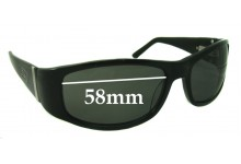 Dirty Dog Nipper Replacement Sunglass Lenses - 58mm wide