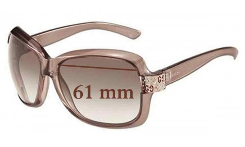 Gucci GG 2985/S Replacement Sunglass Lenses - 61mm