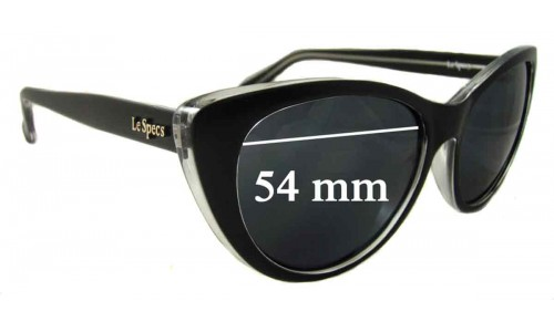 Le Specs Lethal Clutch Replacement Sunglass Lenses - 54mm wide