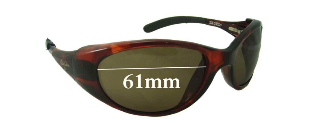 Maui Jim Volcano MJ142 Replacement Sunglass Lenses - 61mm Wide