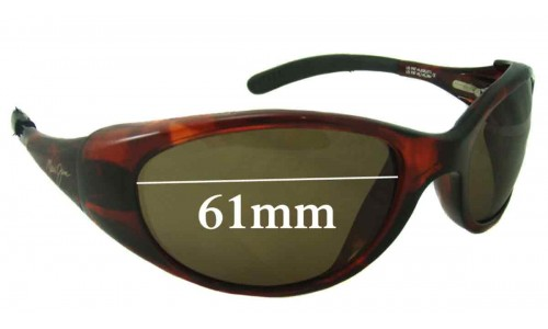 Maui Jim Volcano MJ142 Replacement Sunglass Lenses - 61mm Wide