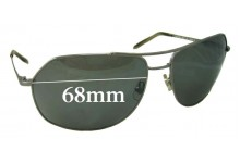 Morgenthal Frederics Super Stealth Replacement Sunglass Lenses - 68mm wide