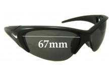 Nike Undermine Evo 258 Replacement Sunglass Lenses- 67mm wide