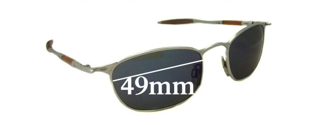 Oakley OO Square 49mm wide Replacement Sunglass Lenses