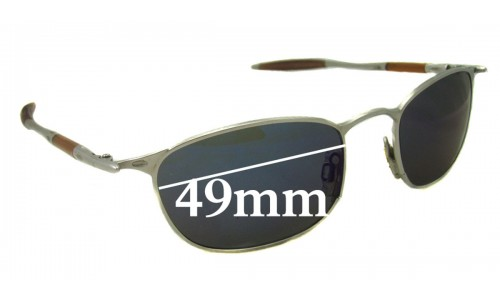 Oakley OO Square 49mm wide New Sunglass Lenses
