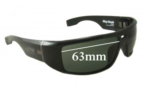 Otis Big Deal Replacement Sunglass Lenses - 63mm wide