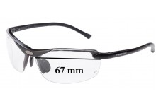 Sunglass Fix New Replacement Lenses for Peltor LE400 - 67mm Wide