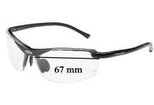 Peltor LE400 Replacement Sunglass Lenses - 67mm Wide