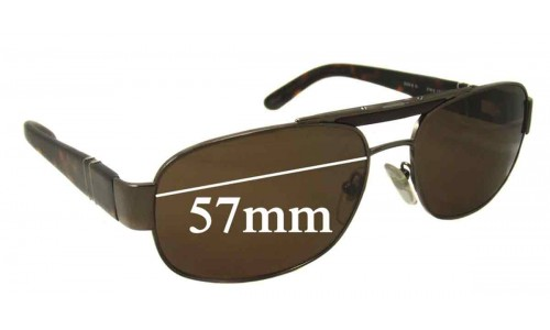 Persol 2329-S New Sunglass Lenses - 57mm Wide