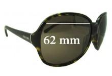 Prada SPR 26L Replacement Sunglass Lenses - 62mm Wide