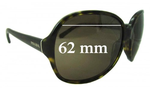 Prada SPR 26L Replacement Sunglass Lenses - 62mm Wide