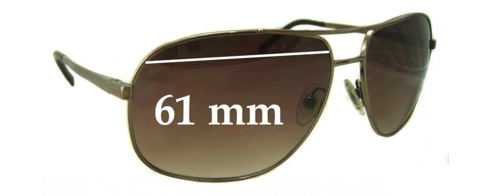 Prada SPR53M Replacement Sunglass Lenses - 61mm wide lens