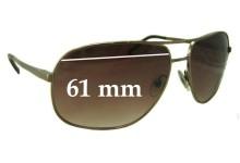 Prada SPR53M Replacement Sunglass Lenses - 61mm wide lens