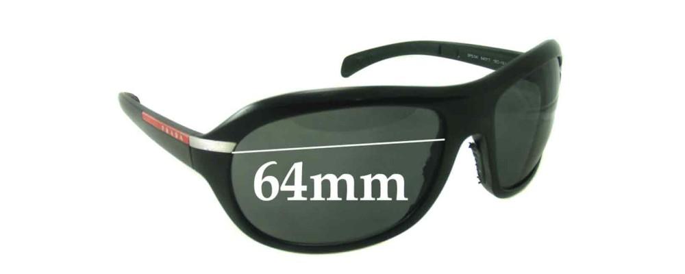Prada SPS04I Replacement Sunglass Lenses - 64mm Wide
