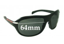 Prada SPS04I Replacement Sunglass Lenses - 64mm Wide