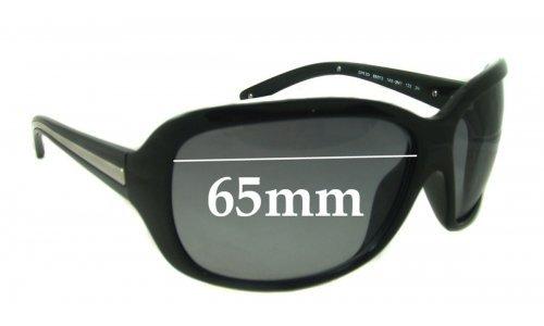 Prada SPR20I Replacement Sunglass Lenses - 65mm Wide