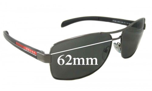 Prada SPS50L Replacement Sunglass Lenses - 62mm Wide