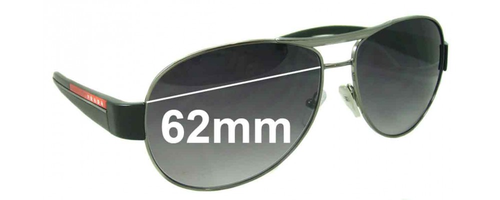 Prada SPS51L Replacement Sunglass Lenses 62MM Wide