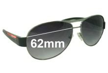 Prada SPS51L Replacement Sunglass Lenses 62MM Wide