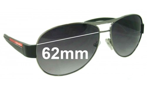 Sunglass Fix Replacement Lenses for Prada SPS51L 62MM Wide