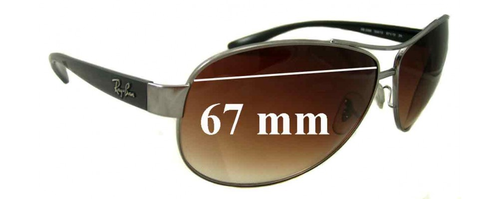 a9030a9810 Ray Ban RB3386 Replacement Lenses - 67mm wide