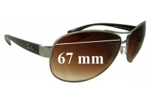 Ray Ban RB3386 Replacement Sunglass Lenses - 67mm wide