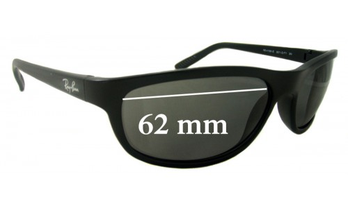 Ray Ban RB4158-E Replacement Sunglass Lenses - 62mm Wide