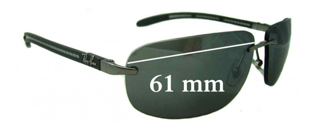 3a4873253cd Ray Ban RB8303 Replacement Lenses - 61mm Wide